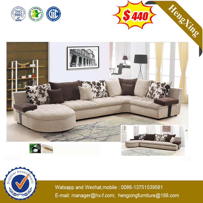 Large Size U Fabric Sofa Modern Corner Sitting Room Sofa Combination Sofa