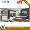 Luxury King Size MDF Wooden Hotel Home Bedroom Beds