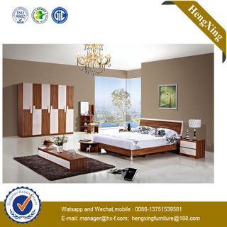 Factory Price House Living Bedroom Furniture Double Bed Wooden Bed