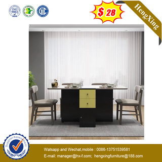 Modern Home Furniture Wooden Tables Dining Table with Chairs