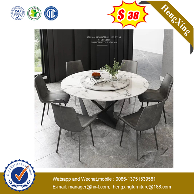 Modern Wooden Home Furniture Black Metal Hotel Event DiningTable