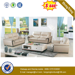 Living Room 1+2+2 Seats Seperate Set Furniture Factory Wholesale Wood Optional Color Leather Sofa