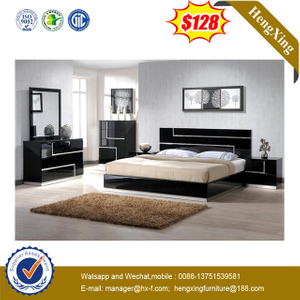 Chinese King Size Wooden Double Queen Bed Modern Bedroom Furniture