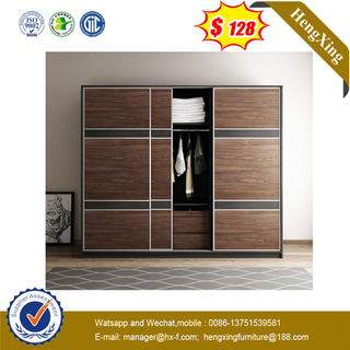 New Design 2 Doors Dark Best Price Bedroom Furniture Wardrobe