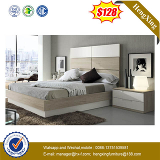 OEM Hotel 5 Star Modern Design Bedroom Furniture Set Wood High Head Board Bed