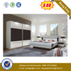 Modern Wooden Apartment Bedroom Furniture 1.8m MDF Double Bed
