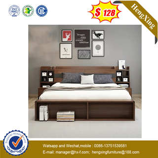 Luxury King Queen Double Single Size Wooden Headboard Bed for 5 Star Hotel
