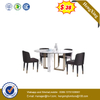 Simple Classic Modern White Wooden Dining Coffee Table Set with Chair