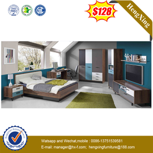 Modern King Size Wooden MDF Home Hotel Bedroom Beds