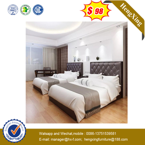 Modern PU Leather King Size hotel Bed for bedroom furniture