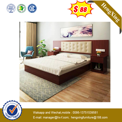 Chinese Wooden Home Hotel Living Room Furniture Modern Bedroom Beds