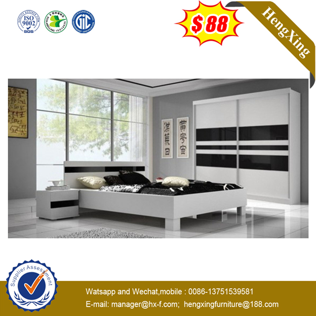 Wholesale King Design Wooden Double Bed for Bedroom