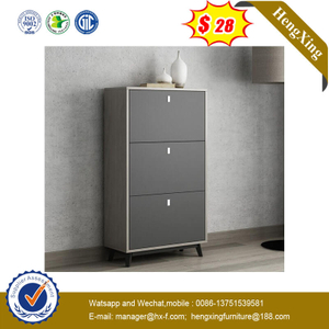 Factory Modern Design Shoe Storage Cabinet Home Furniture Set