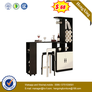 Wholesale Modern White And Black High Folding MDF Home Bar With Shoe Cabinet