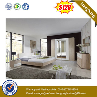 Chinese Manufacture Solid Hardwood Hotel Bedroom Furniture Wall Bed With Mirror Wardrobe