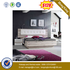 Hotel Home Use Wooden Frame Fabric Leather Sofa Bedroom Furniture Set Bed