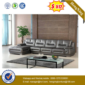 Wall Corner Living Room Middle Contempory Lounge Suites Genuine Leather Leisure Indoor Sofa