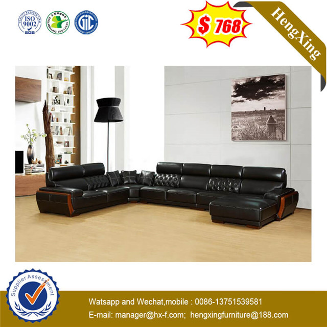 Italy Modern L Shape Leisure Comfortable Living Room Furniture Chaise Long Leather Sofa