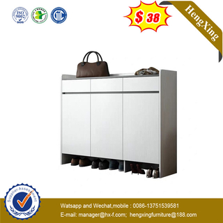 Modern White Color Mdf Wooden Drawers Rack Storage Cabinet