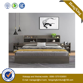 Fashion Design PU Headboard MDF Doube Queen Hotel Bedroom Furniture Bed