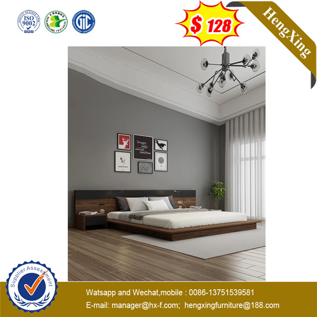 LongJiang No MOQ Dirty Proof New Design Darke Melamine Double Bed