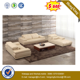 Modern Creamy-white Comfortable Leather Living Room Hotel Office Recliner Sectional Sofa