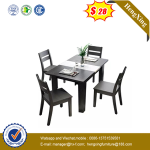 Hotel School Furniture Square Tables Preschool Wooden Home Dining Table