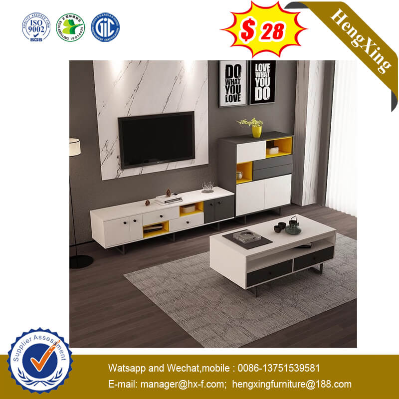 Modern Whiter Color Livingroom Cabinet Furniture Wooden Side TV Table