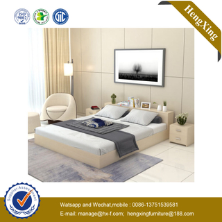 New Cheap Queen Size MDF Wood Frame Double Design Furniture Bedroom Bed