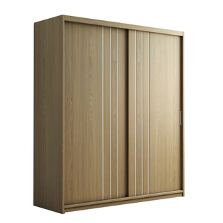 Custom Made Bedroom Natural Furniture Double 2 Door Modern Simple Portable Closet Wardrobe