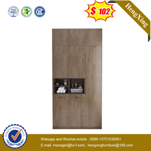 Modern MDF Sliding Mirror 2 Door Closet Storage Wardrobe Design Bedroom Furniture