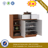 Home Furniture Melamine Wood Shoe Racks with Open Door And Drawers