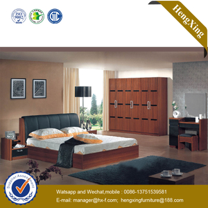Modern Hotel Home Wooden Living Room Furniture Bedroom Set Mattress Drawer Cabinets Single Queen Double King Bed