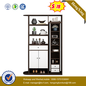 White Home Furniture Light Luxury Tall Cabinet Simple Glass Door Storage Living Room Cabinet