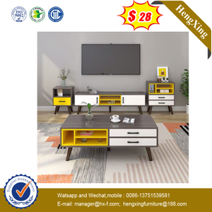 Modern Living Room Furniture Coffee Table with TV Stand Storage Cabinet