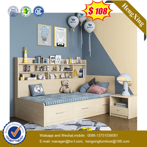 Factory Kids Bedroom Furniture Set wardrobe drawer cabinets Children Bunk single Bed