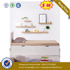 Modern Home School Children Dormitory Kids Furniture Bookcase Bunk Wooden Single Double Bed