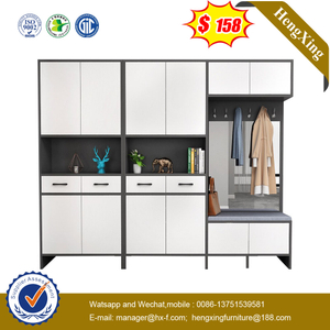 Nordic Grey Entrance Partition Cabinet Decoration Cupboard Home Furniture Set Living Room Cabinet