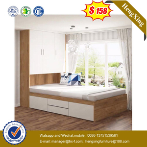 Wooden Bedroom Furniture Children Bed with Bookcase