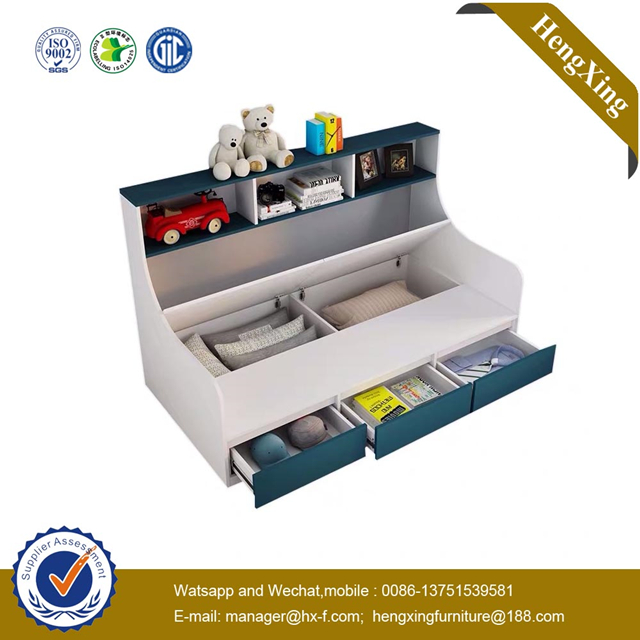 Simple Modern School Home Bedroom Furniture Rack cabinets Single Storage Bunk Children Kids Bed