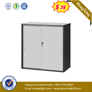 Hot Sale Modern Wood Bookcase Office Furniture Filing Storage Cabinet with Swing Door and Key Lock