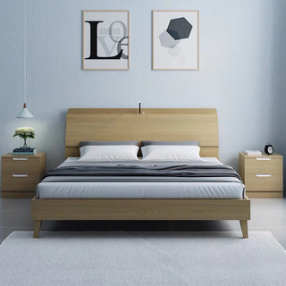Wholesale Bed Room Furniture Bedroom Set Wooden Bed for Sale From China