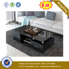 Wholesale Living Room Furniture Center Desk Black Coffee Table Glass with Drawer