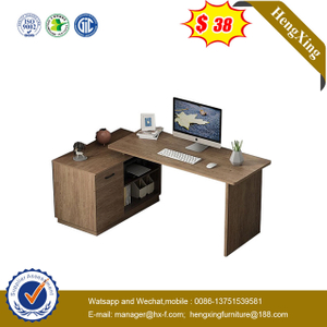 Modern L Shape Wooden study table dresser School Office Executive Laptop Standing Desk