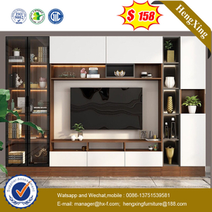 Modern Wooden Wall Unit TV Cabinet TV Stand Coffee Table Bookcase Livingroom Furniture Set