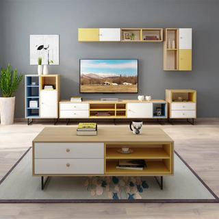 Hot Selling Custom Modern Simple Storage Drawer Design MDF Tv Stand Cabinet Units for Living Room Furniture