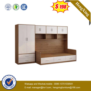 High Quality Kids Bedroom Furniture Set Children Bunk Bed with Bookcase