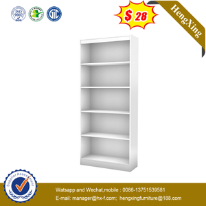 White Simple Style Design Living Room Storage Bookcase Office Filing Book Case Racks