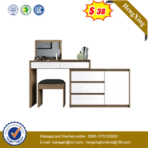 Wooden Bedroom Furniture Set Study Computer Desk Vanity Dressing Makeup Mirror Table Makeup