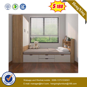 Modern Hotel Bedroom Home Children Wooden Sets Furniture Single Kids Size Bed